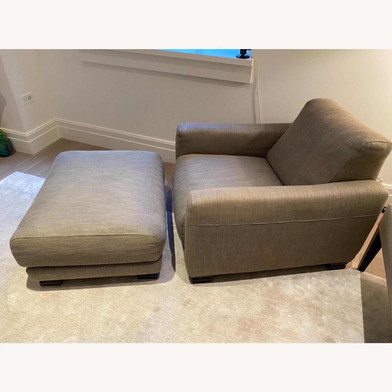 Natuzzi Arm Chair & Ottoman - image-0