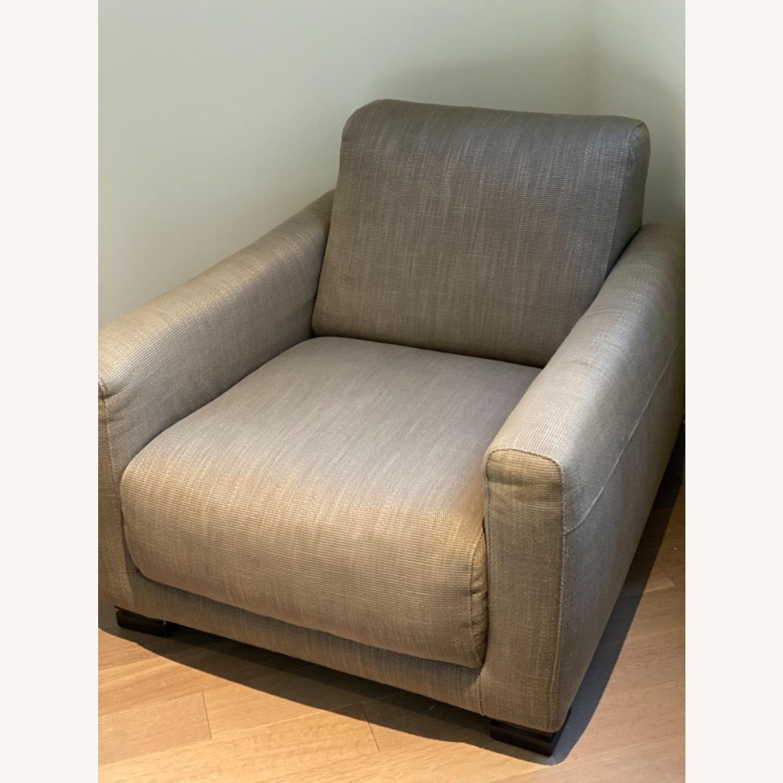 Natuzzi Arm Chair & Ottoman - image-6