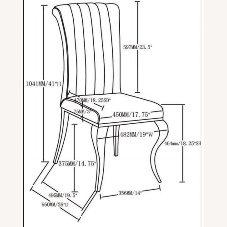 Dining Chair In Teal Plush Soft Velvet Upholstery - image-6