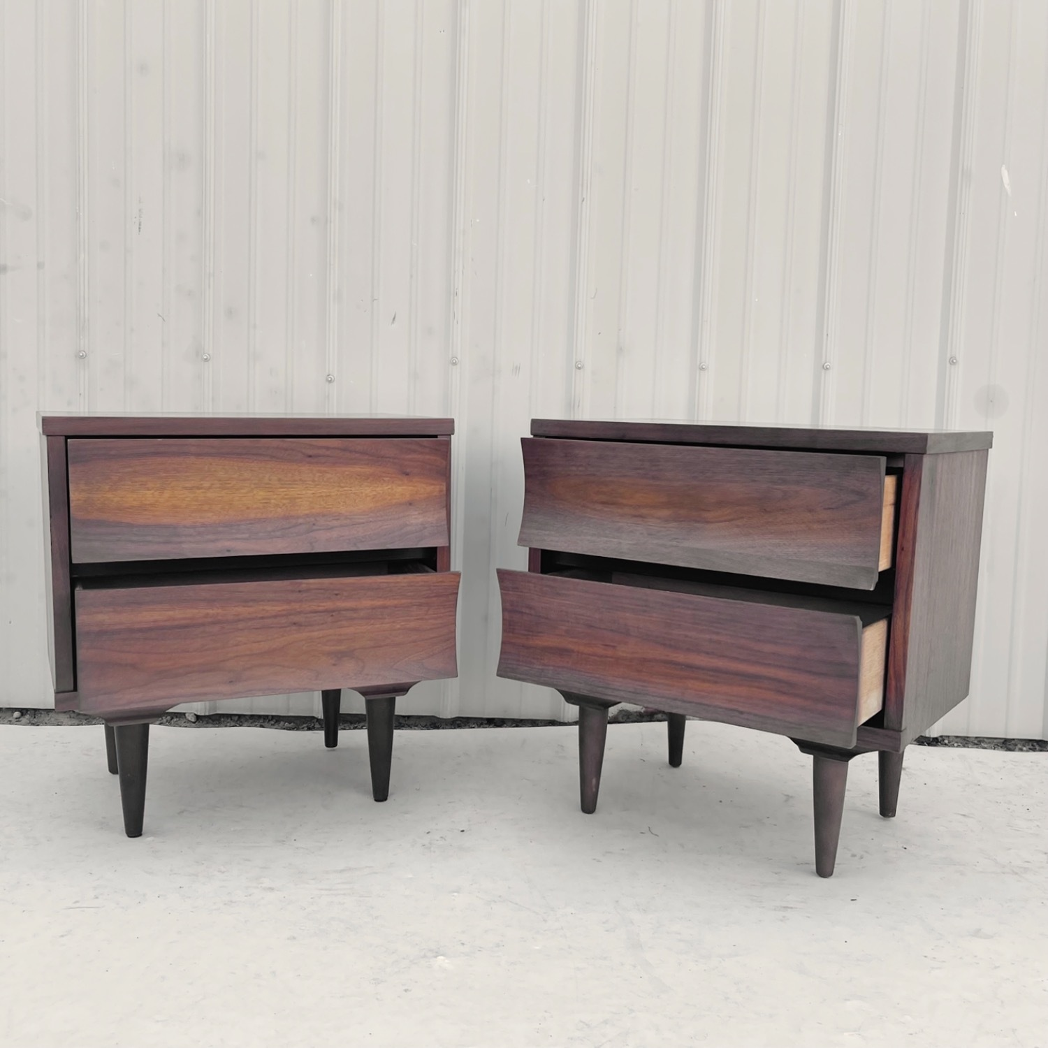 Mid-Century Nightstands-  a Pair - image-2