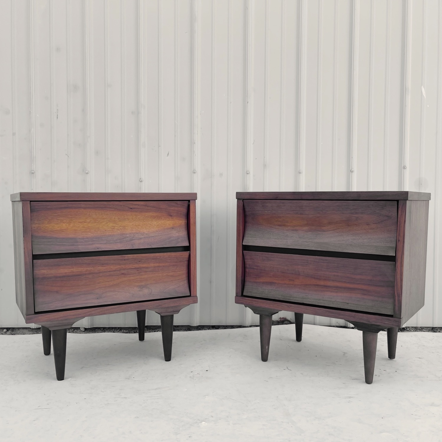 Mid-Century Nightstands-  a Pair - image-1