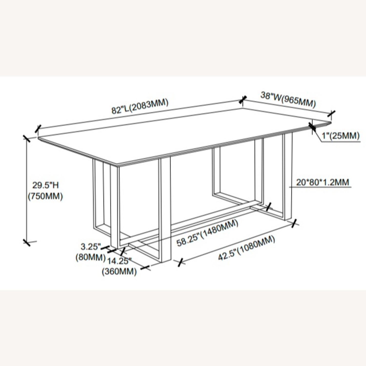 Dining Table In White Thick Tempered Glass Finish - image-6