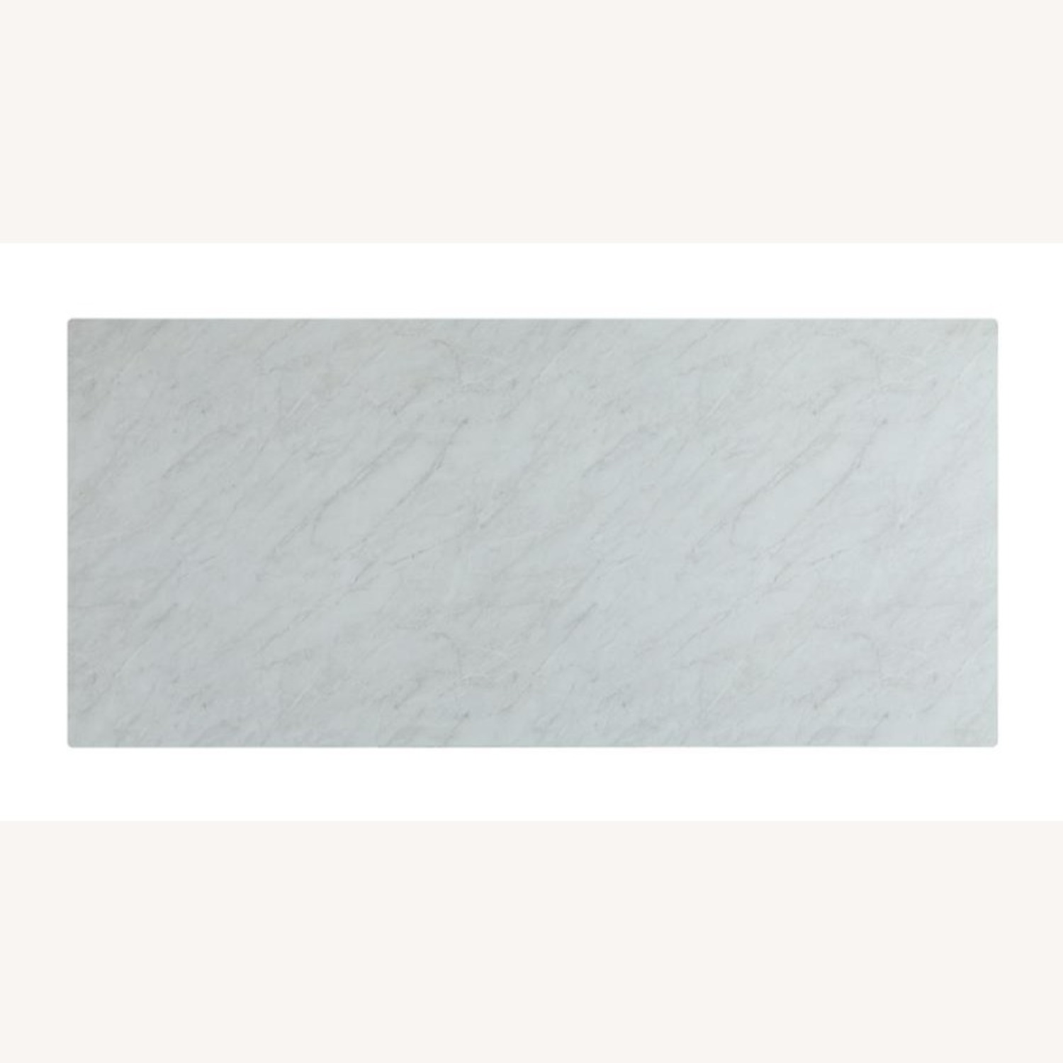 Dining Table In White Thick Tempered Glass Finish - image-3