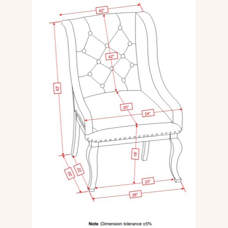 Armchair In Cream Fabric Foam Padded Cushion - image-5
