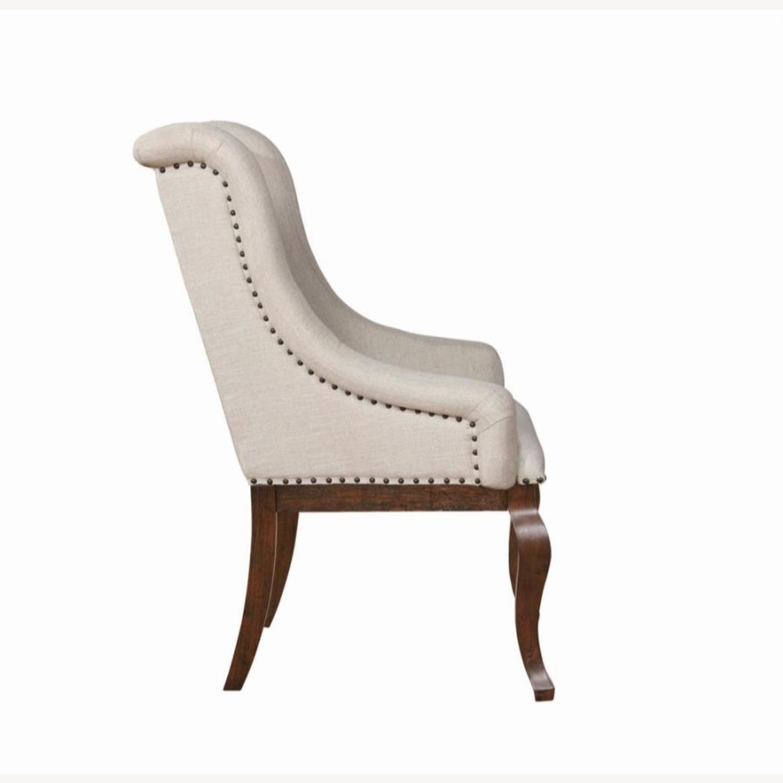 Armchair In Cream Fabric Foam Padded Cushion - image-2