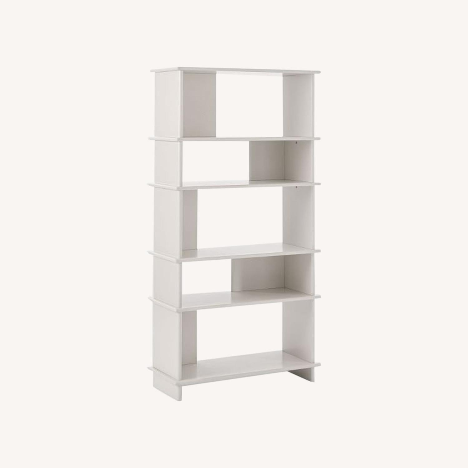 West Elm Kaira Wide Bookcase - Oyster - image-0