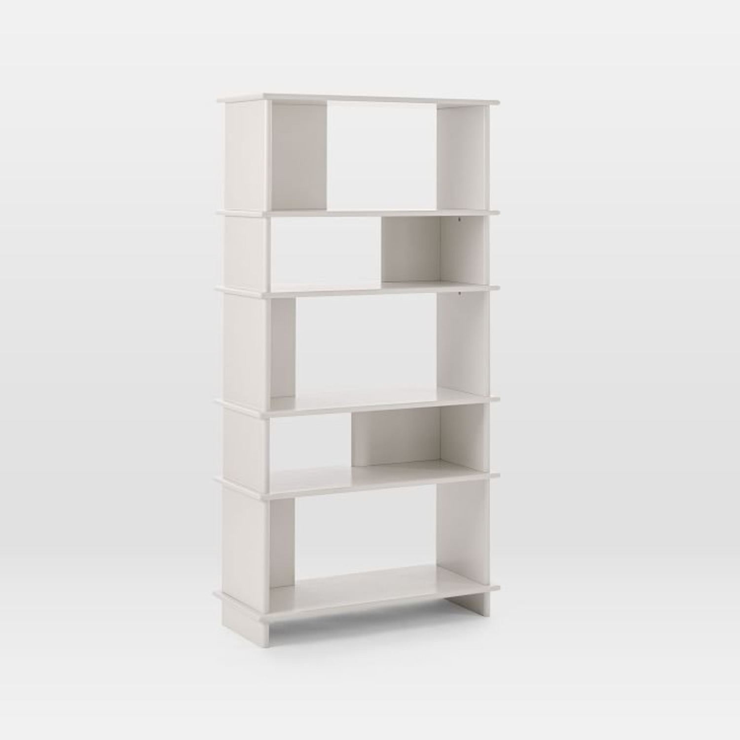 West Elm Kaira Wide Bookcase - Oyster - image-1