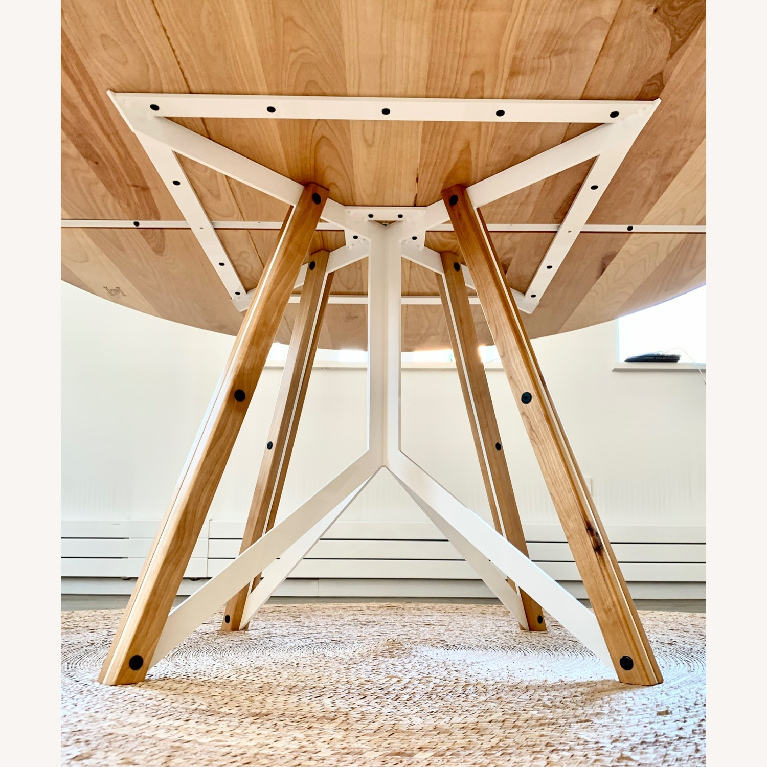 Birch Wood Round Dining Table 60 - image-4