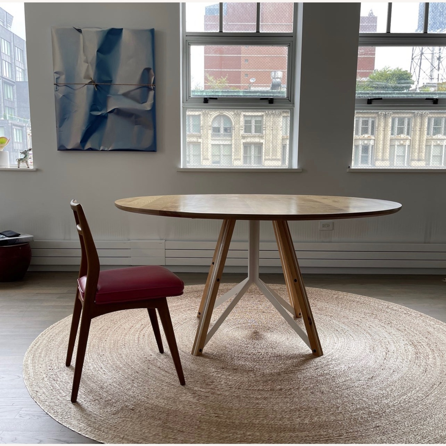 Birch Wood Round Dining Table 60 - image-9