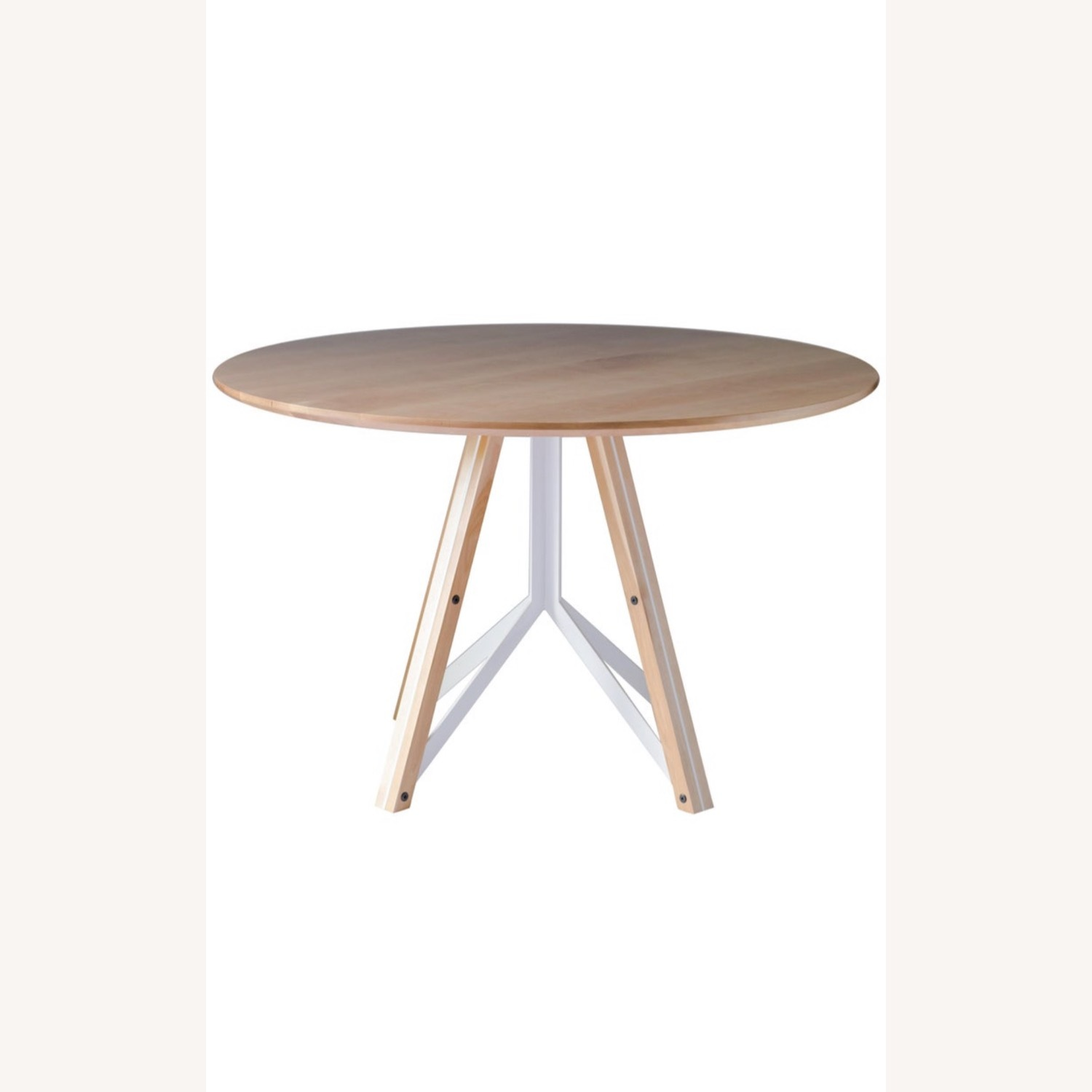 Birch Wood Round Dining Table 60 - image-1