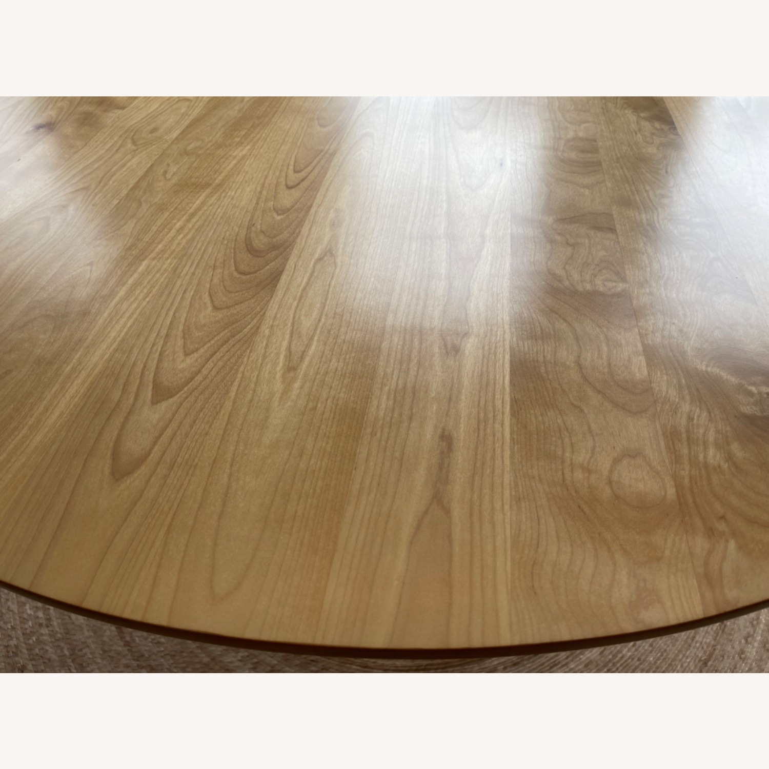 Birch Wood Round Dining Table 60 - image-5