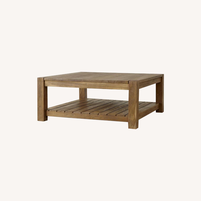 Crate & Barrel Edgewood Teak Coffee Table - image-0