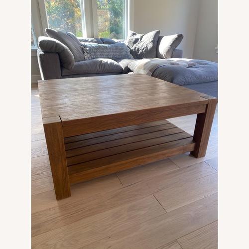 Used Crate & Barrel Edgewood Teak Coffee Table for sale on AptDeco