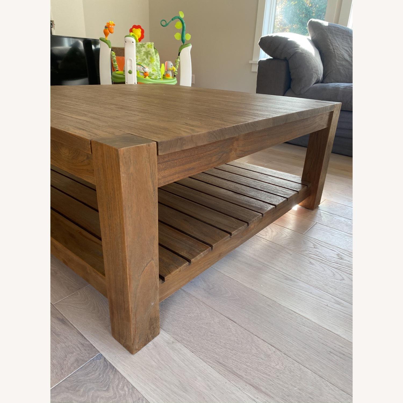 Crate & Barrel Edgewood Teak Coffee Table - image-6