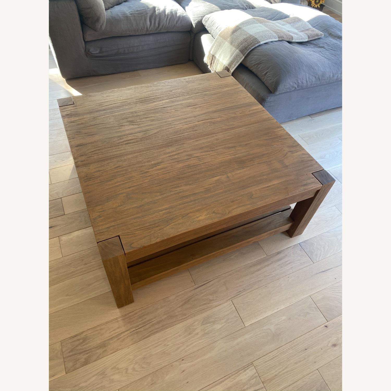 Crate & Barrel Edgewood Teak Coffee Table - image-1