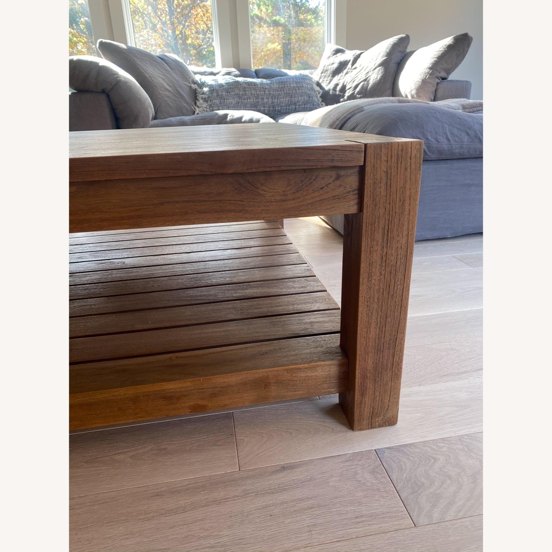 Crate & Barrel Edgewood Teak Coffee Table - image-5