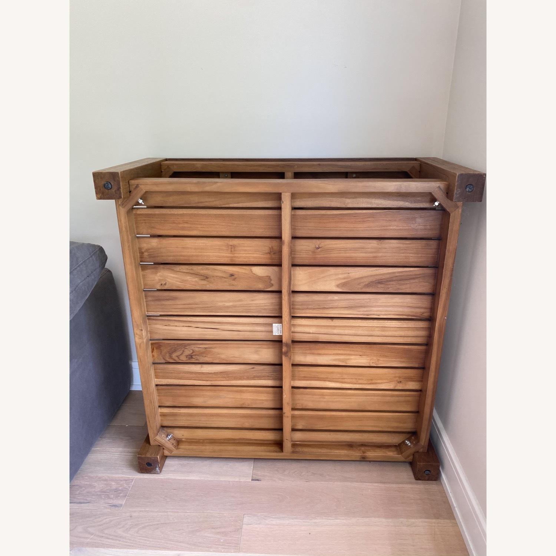 Crate & Barrel Edgewood Teak Coffee Table - image-9