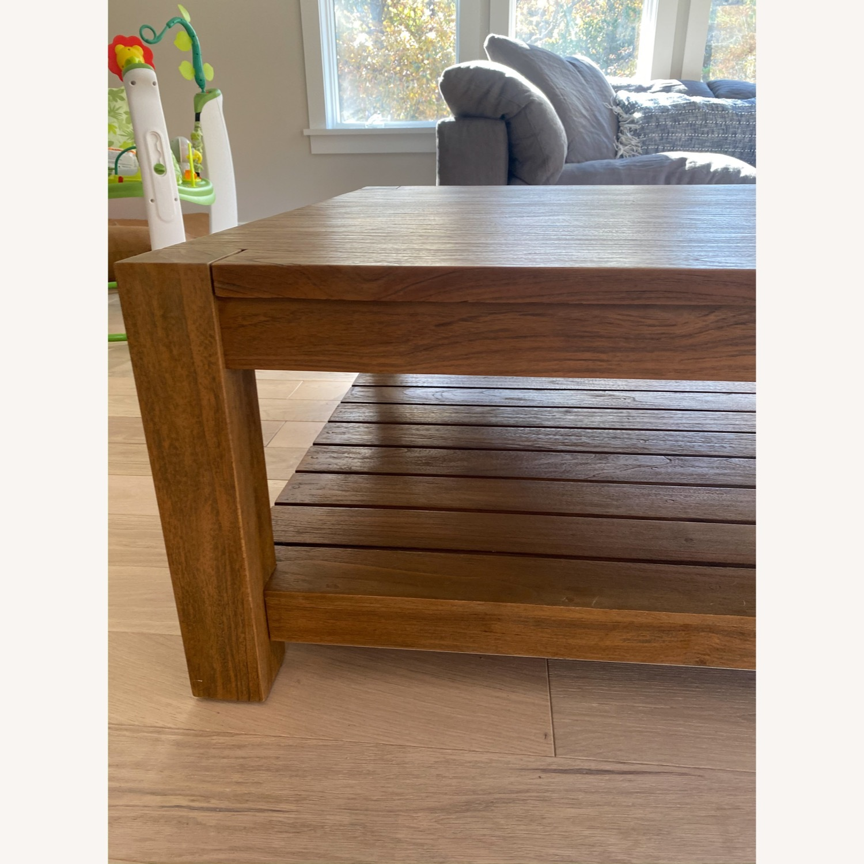 Crate & Barrel Edgewood Teak Coffee Table - image-4