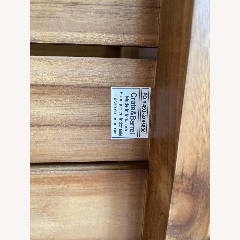 Crate & Barrel Edgewood Teak Coffee Table - image-11