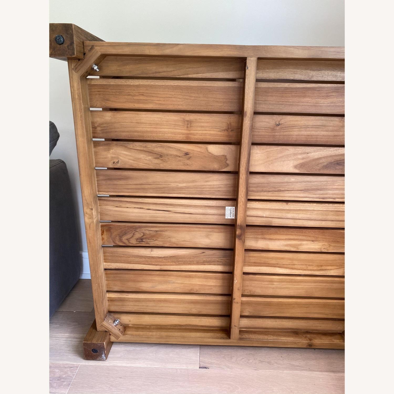 Crate & Barrel Edgewood Teak Coffee Table - image-10