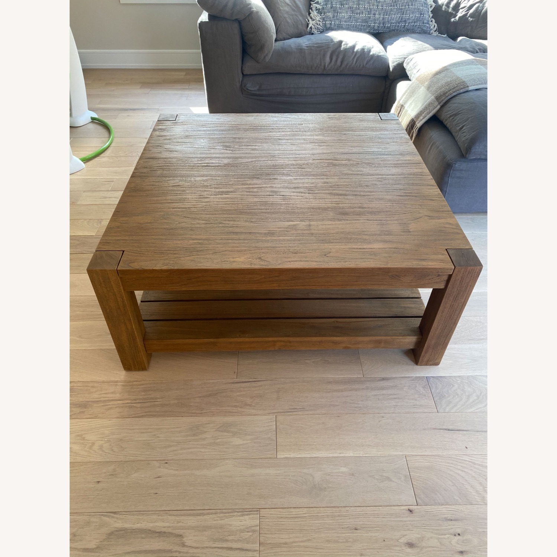 Crate & Barrel Edgewood Teak Coffee Table - image-3