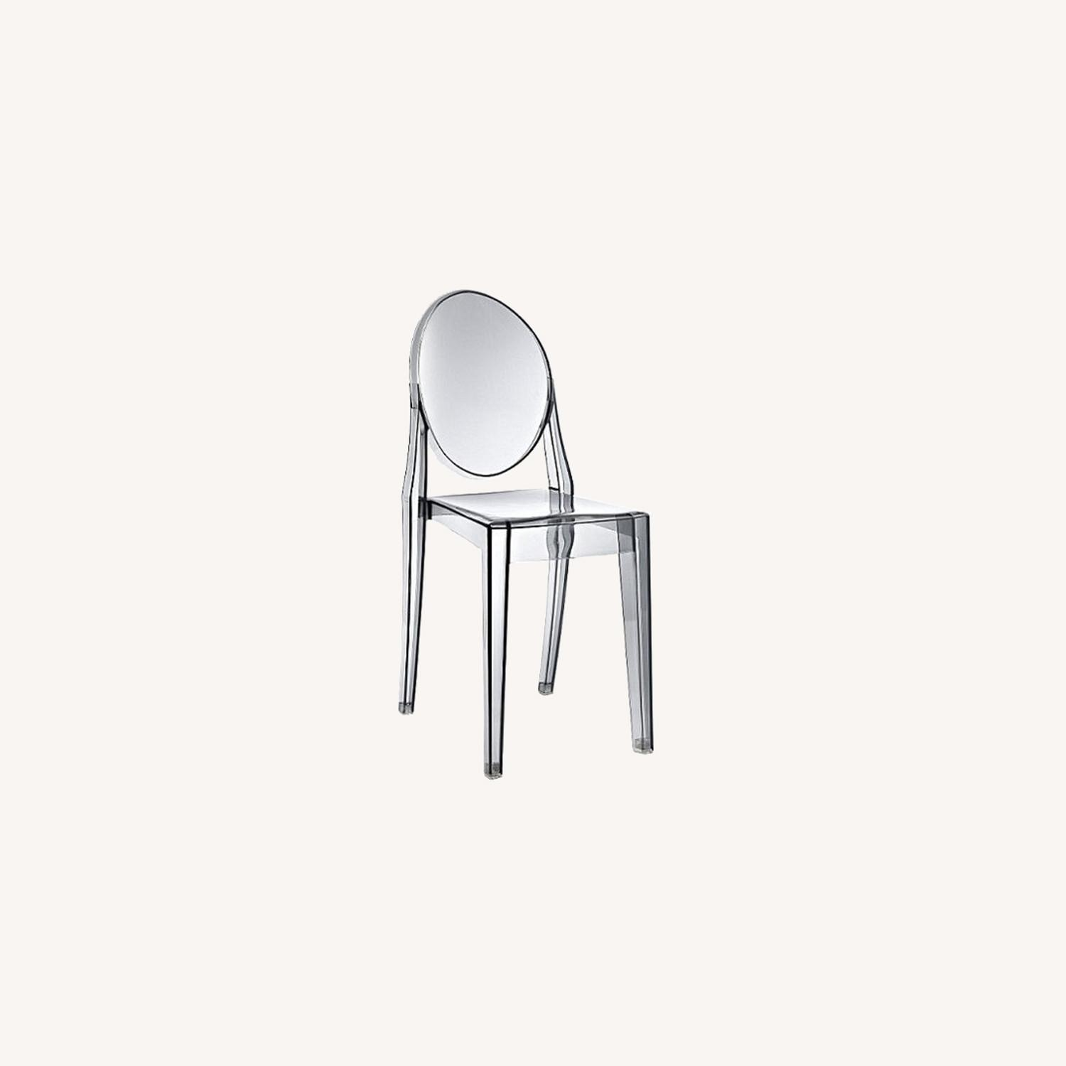 Modway Casper Ghost Dining Chair in Smoke (Set of 4) - image-0