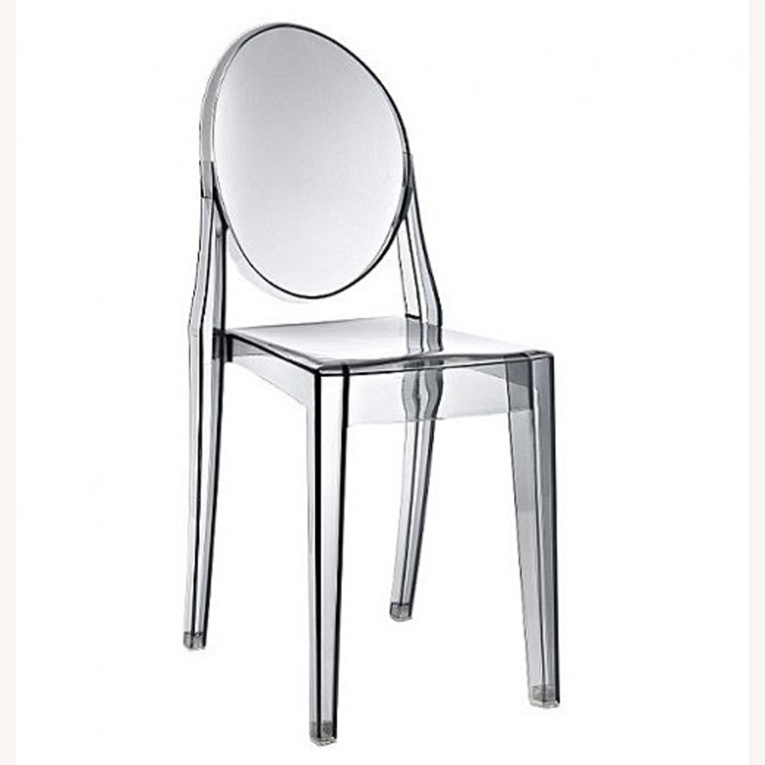Modway Casper Ghost Dining Chair in Smoke (Set of 4) - image-1