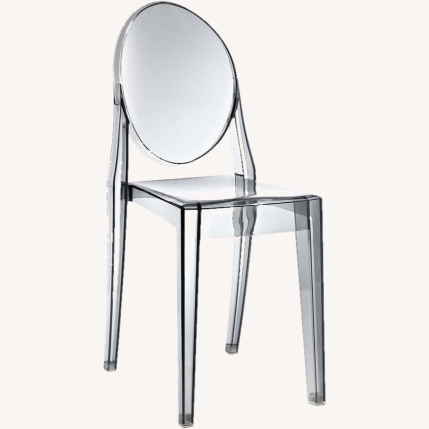 Modway Casper Ghost Dining Chair in Smoke (Set of 4) - image-3