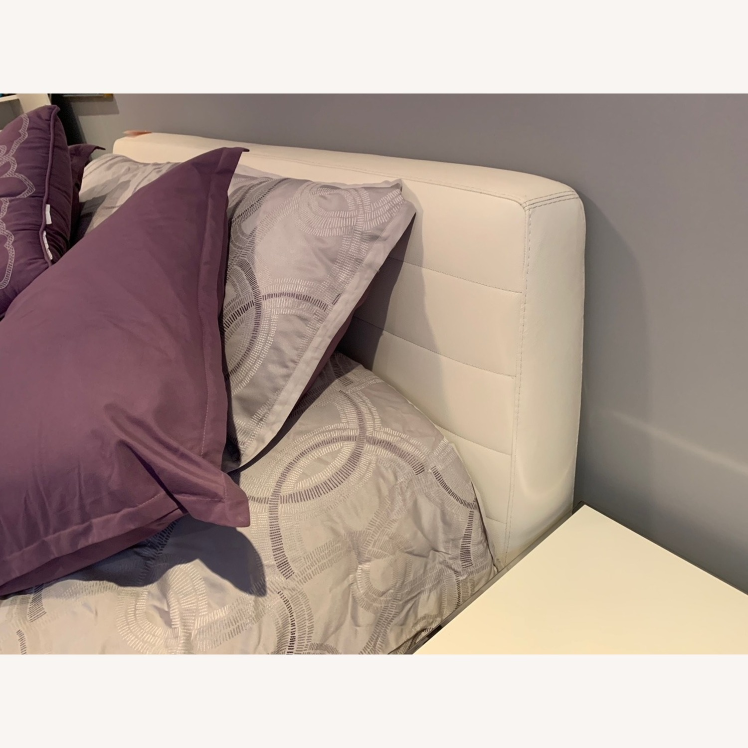 Italian Leather Upholstered Bed - image-2