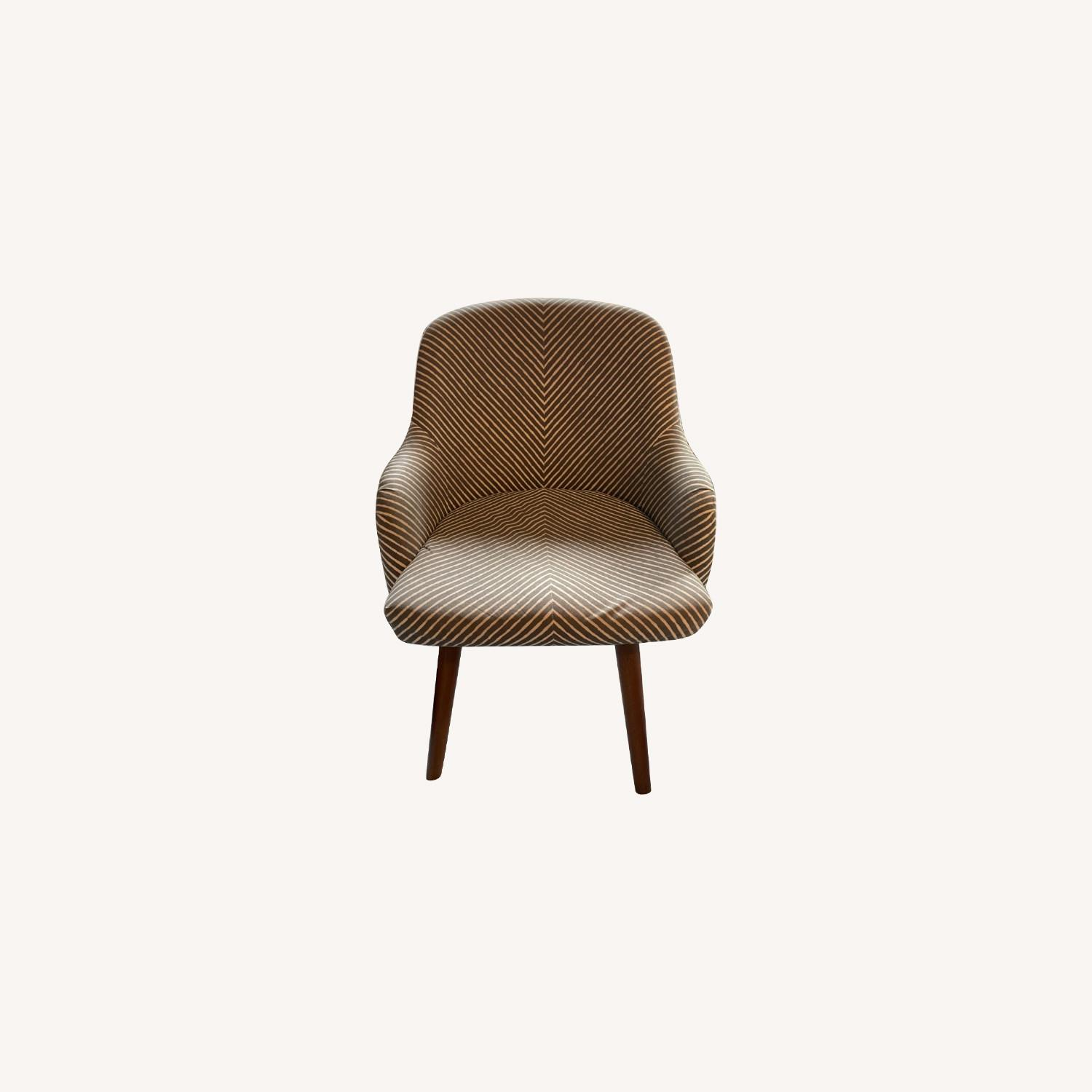 West Elm Havenly Saddle Swivel Chair - image-0