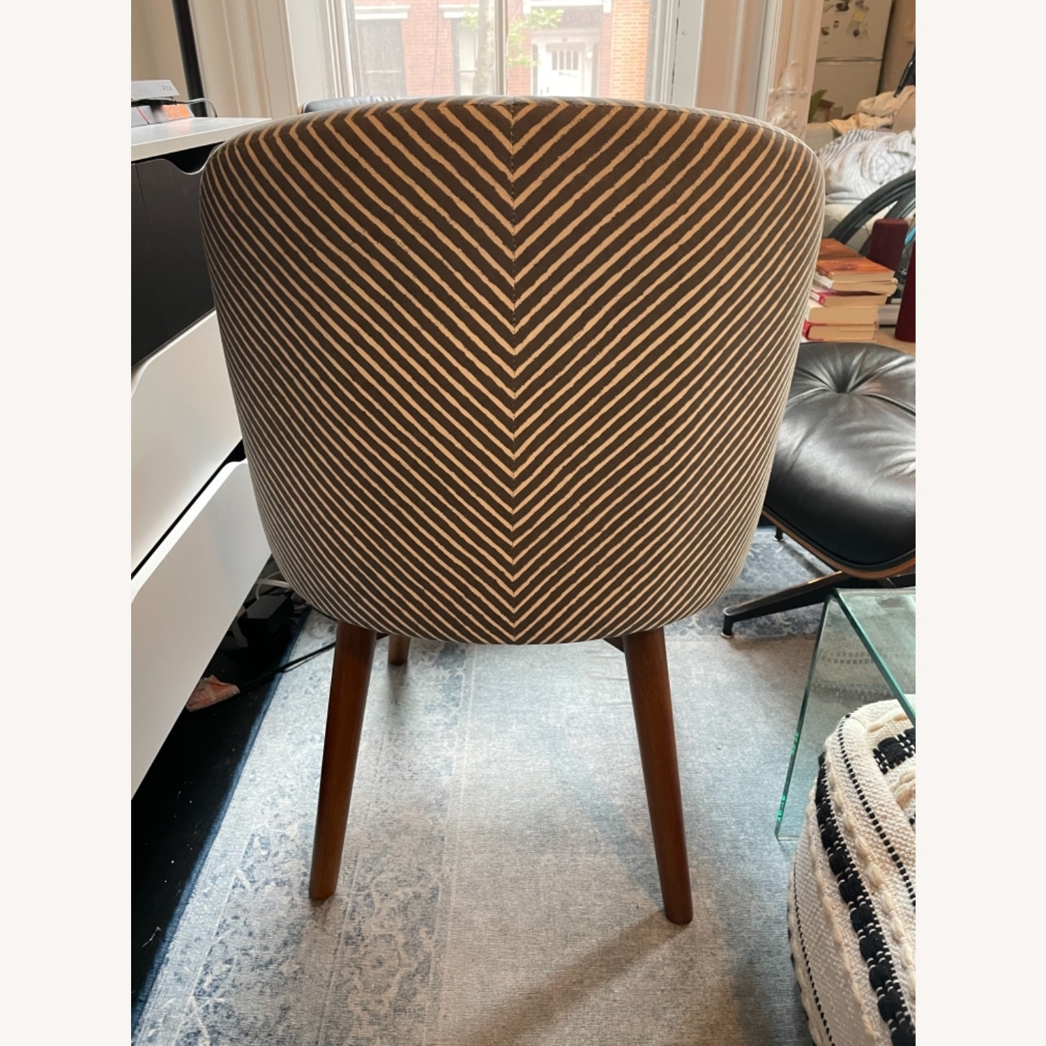 West Elm Havenly Saddle Swivel Chair - image-3