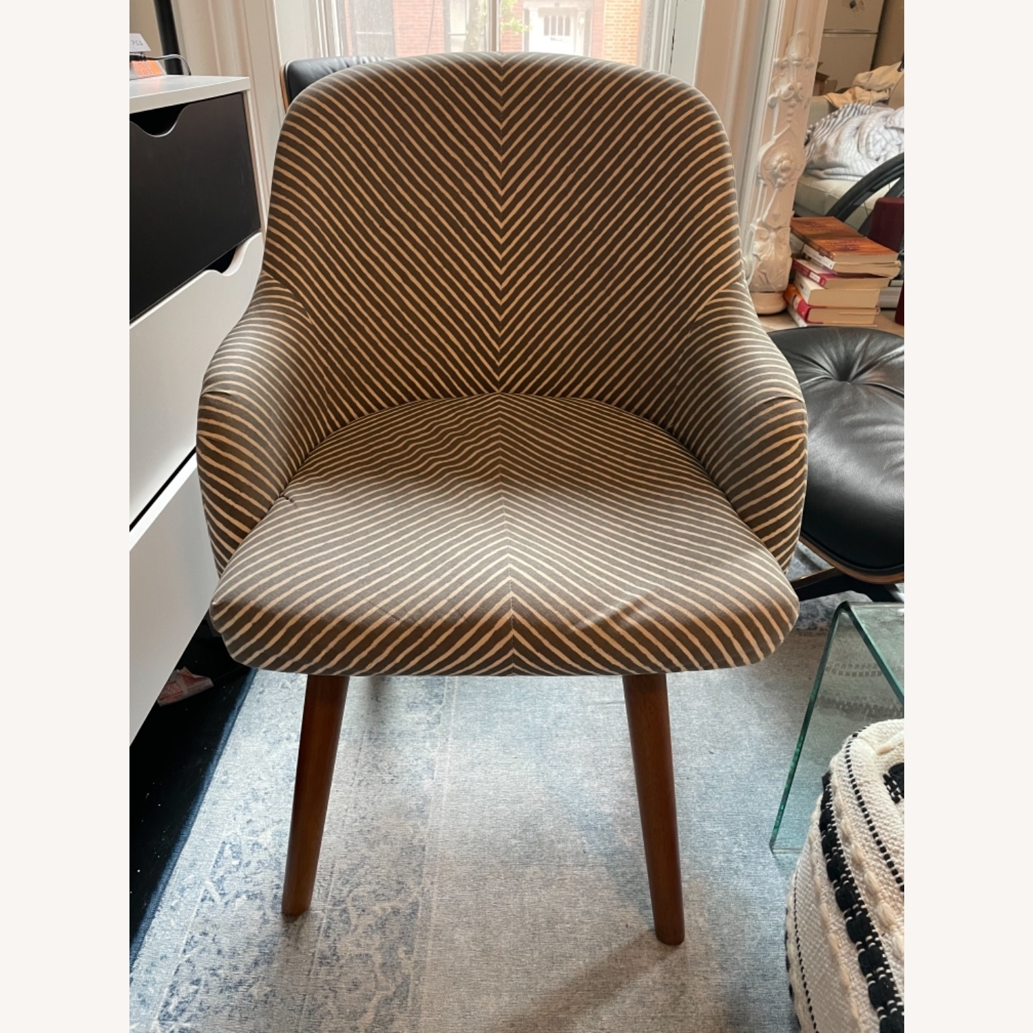 West Elm Havenly Saddle Swivel Chair - image-1