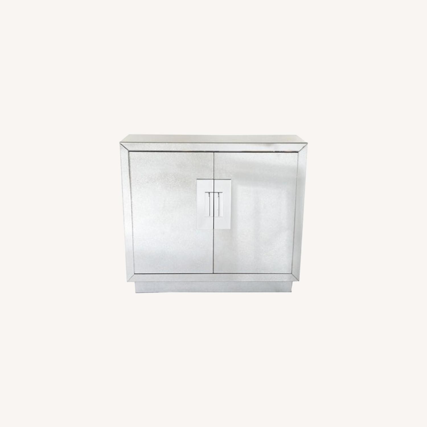 Horchow Lily Mirrored Contemporary Cabinet - image-3