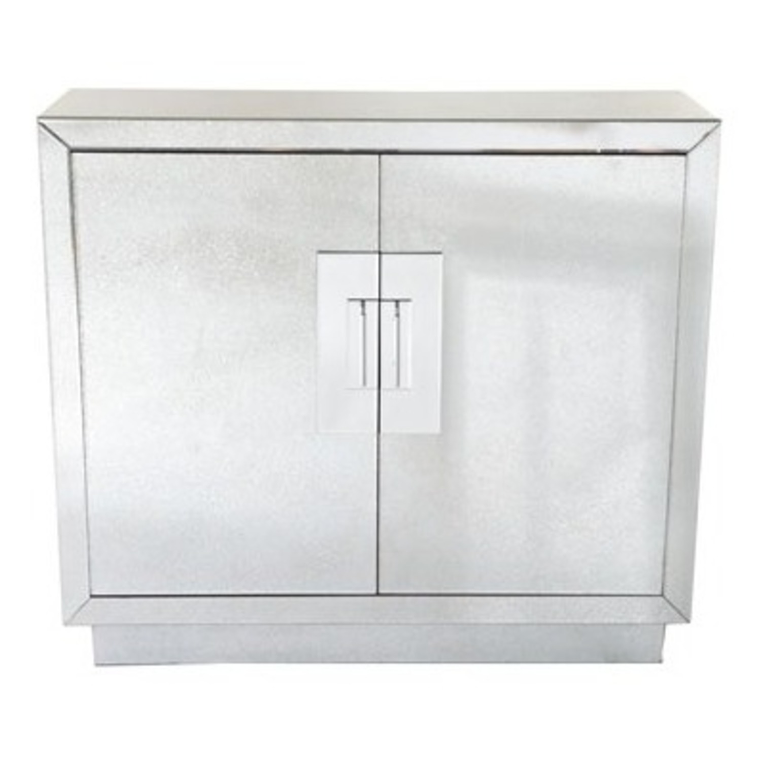 Horchow Lily Mirrored Contemporary Cabinet - image-1