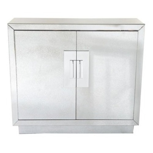 Used Horchow Lily Mirrored Contemporary Cabinet for sale on AptDeco