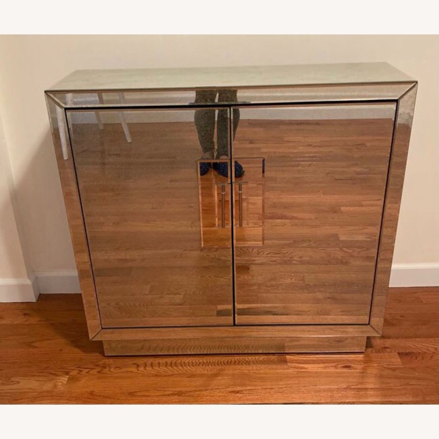 Horchow Lily Mirrored Contemporary Cabinet - image-5