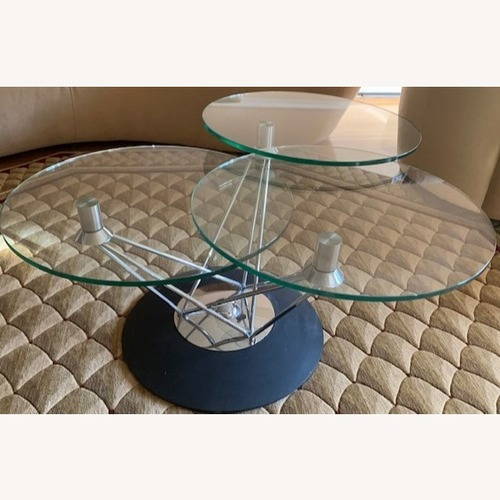 Used Steuben Glass Tempered Designer Collection Coffee Table for sale on AptDeco