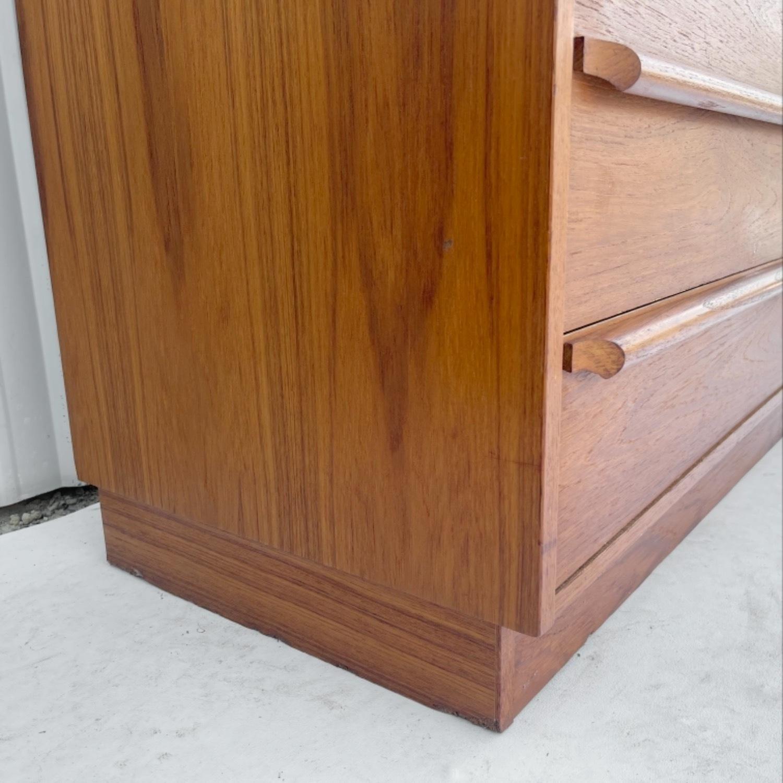Vintage Modern Roll Top Teak Desk - image-15