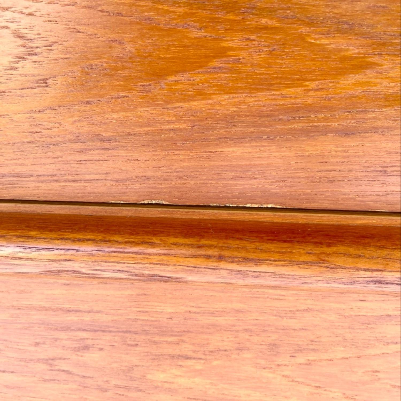 Vintage Modern Roll Top Teak Desk - image-9