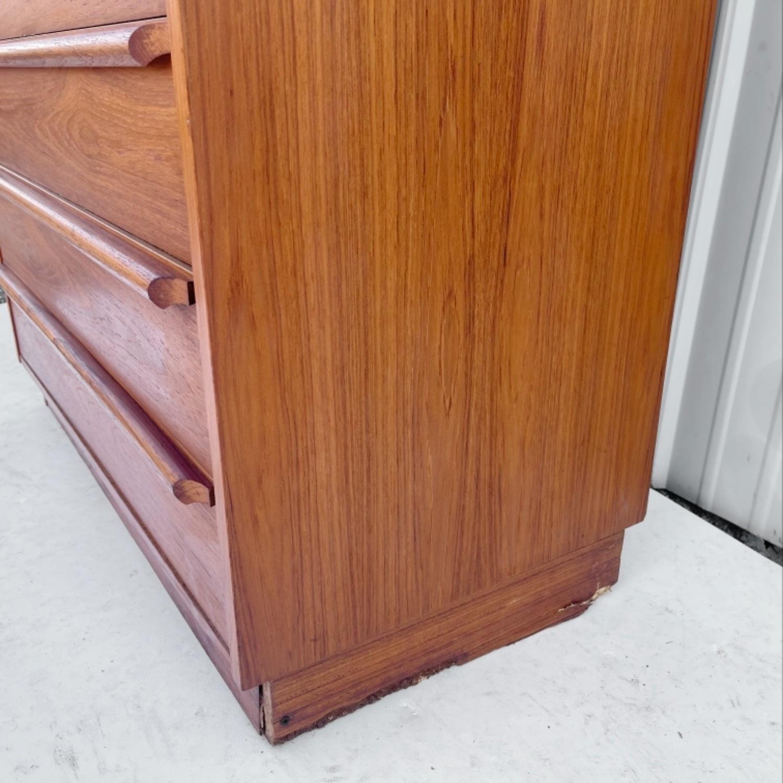 Vintage Modern Roll Top Teak Desk - image-11