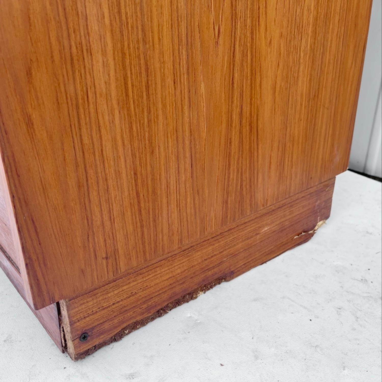 Vintage Modern Roll Top Teak Desk - image-12