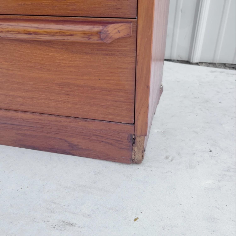 Vintage Modern Roll Top Teak Desk - image-19