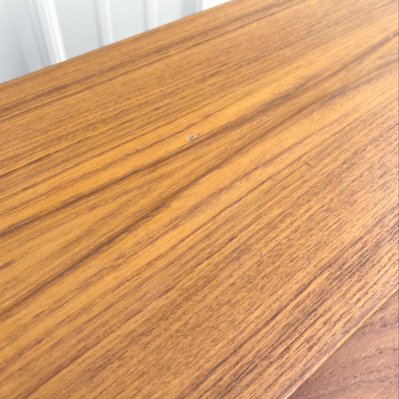 Vintage Modern Roll Top Teak Desk - image-16