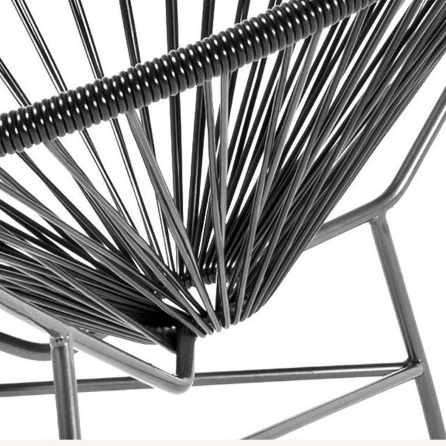 Crate & Barrel Black Spindle Lounge Chair - image-6
