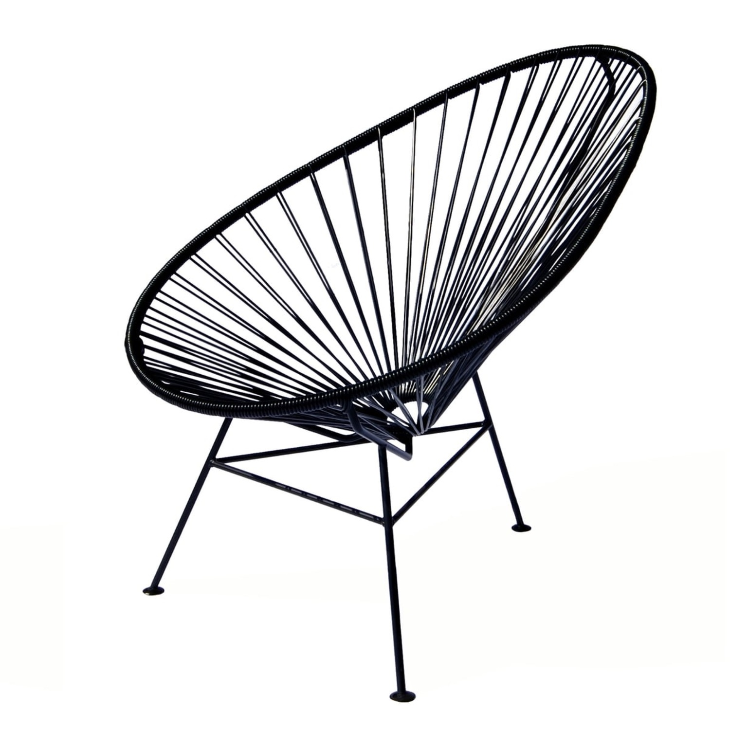 Crate & Barrel Black Spindle Lounge Chair - image-3