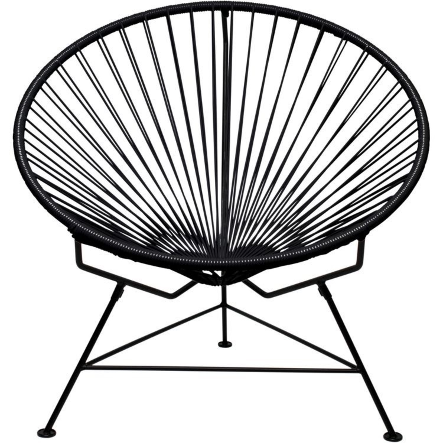 Crate & Barrel Black Spindle Lounge Chair - image-2