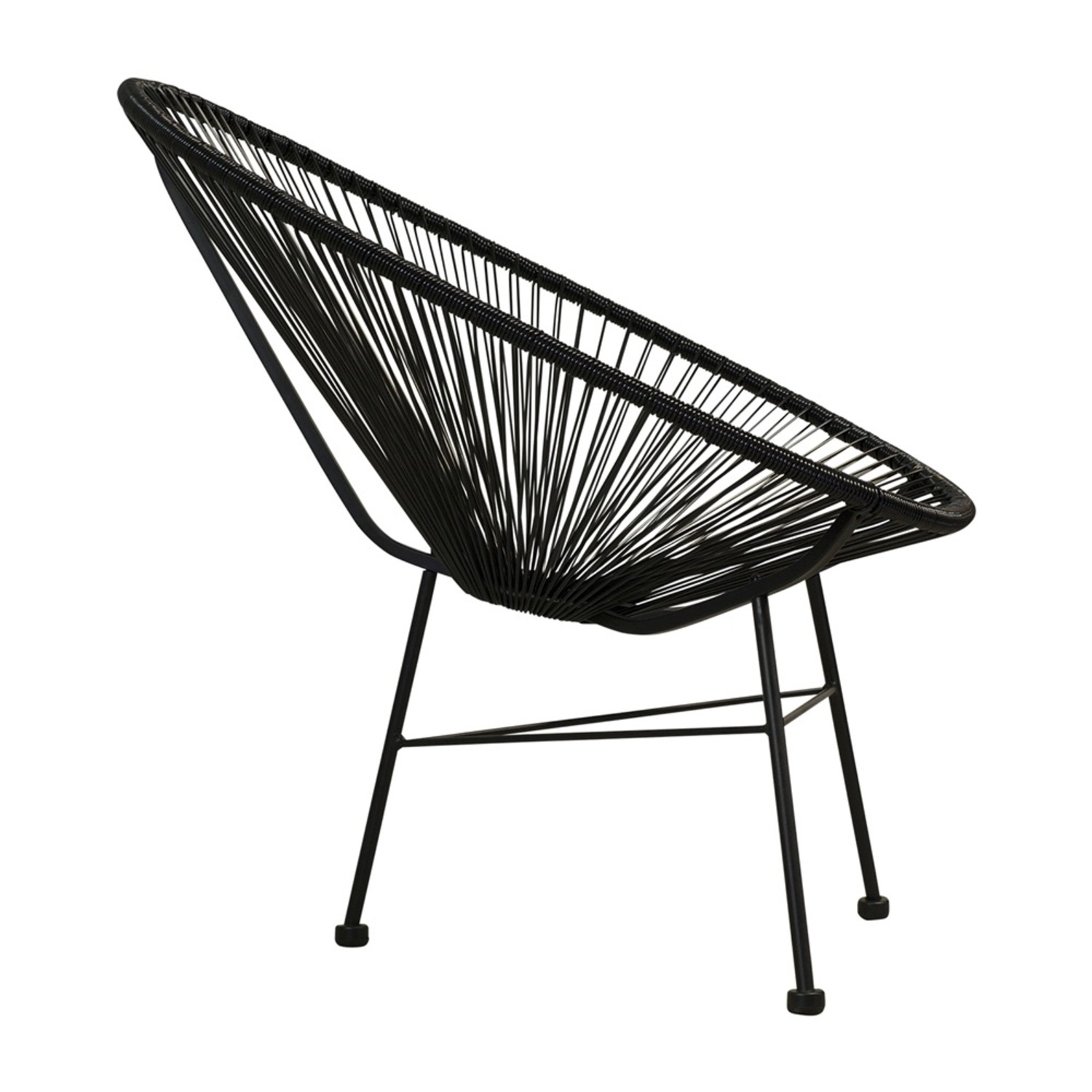 Crate & Barrel Black Spindle Lounge Chair - image-1