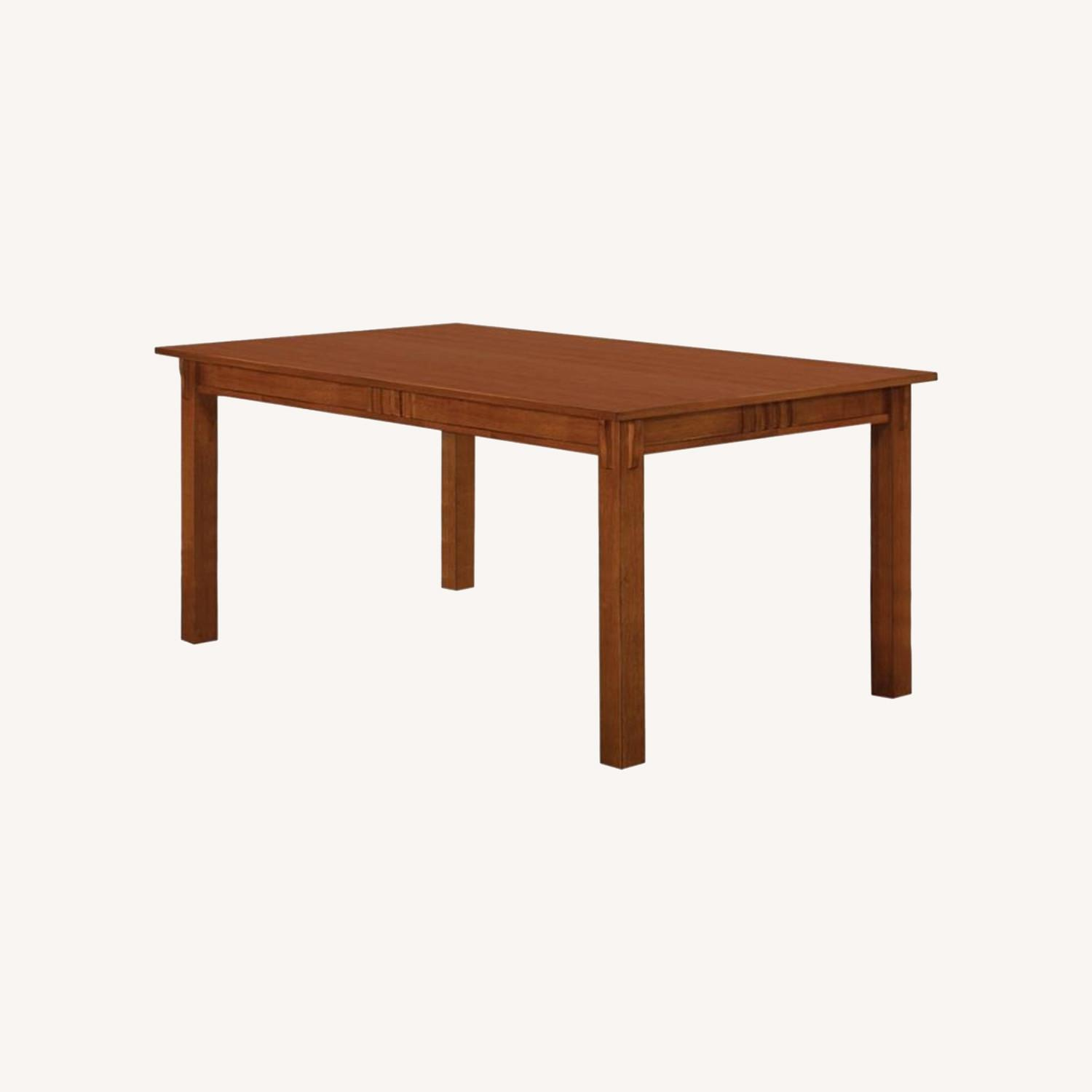 Dining Table In Hardwood Sienna Brown Finish - image-6