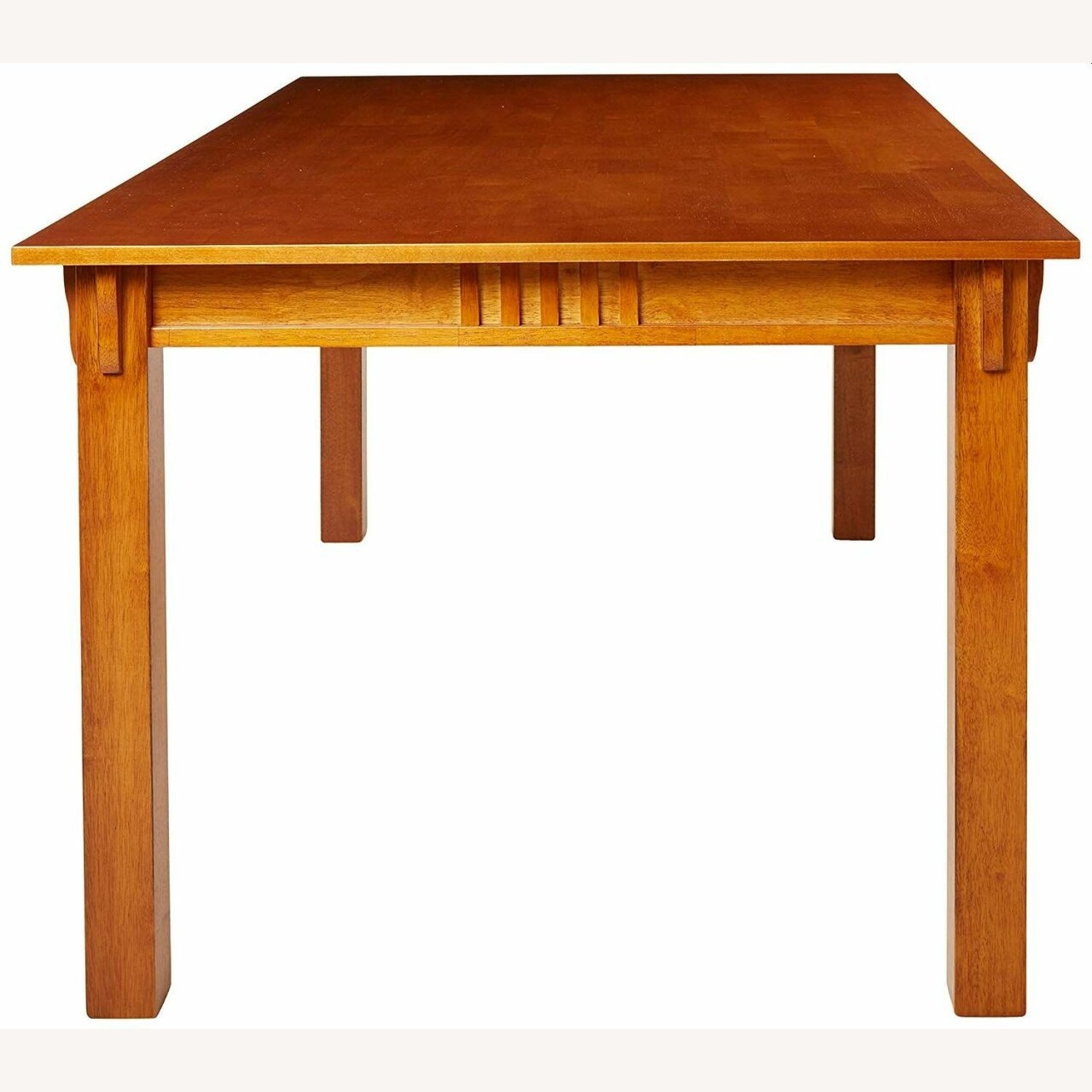 Dining Table In Hardwood Sienna Brown Finish - image-2
