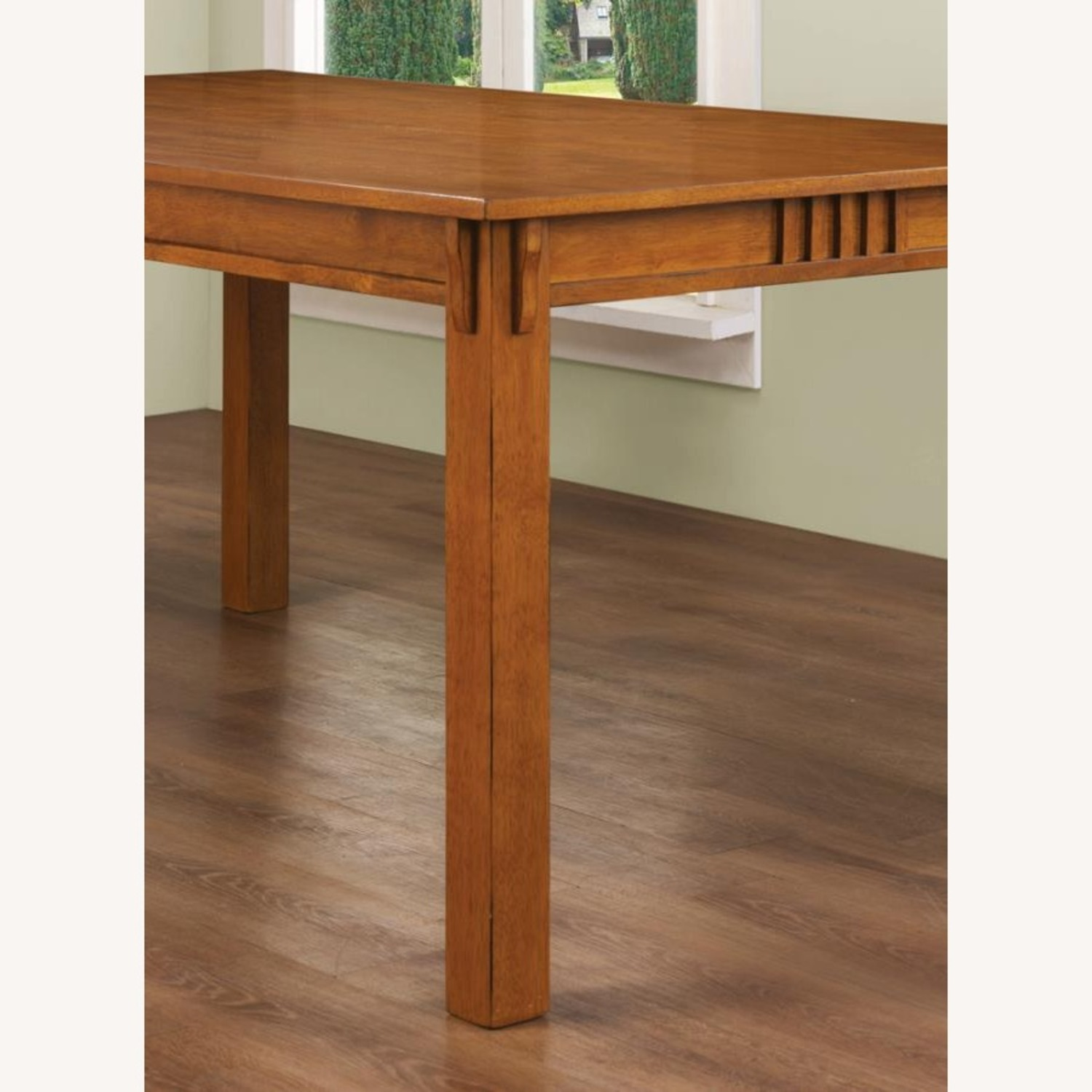 Dining Table In Hardwood Sienna Brown Finish - image-3